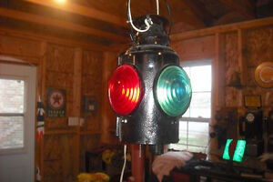 Newfoundland Railway Electrified Hanging Switch Railroad Lamp