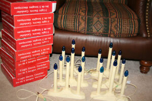 Christmas- Blue light Candoliers