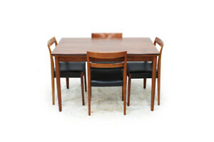 Mid Century Dining Sets -Teak Table and dining chairs