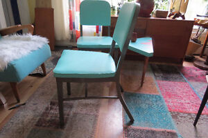 "TWO collectors' mid-century/vintage/retro ""tanker"" chairs"