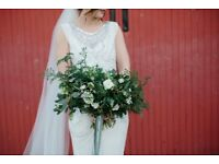 Jenny Packham Esme Wedding Dress UK10 - Ivory and grey beading
