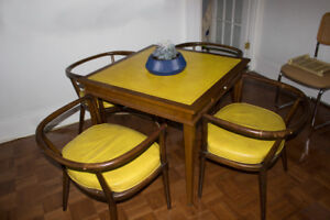 Mid-century dining table set