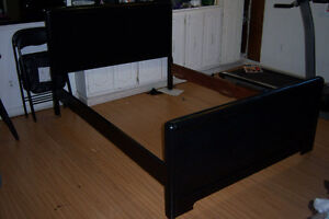 Black Wooden Bed Frame / Double -54' x 75'