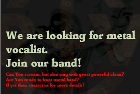 Metal vocalist needed!