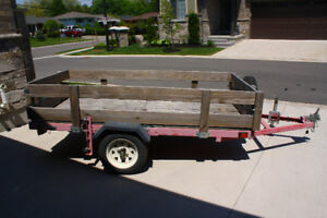 Folding utility trailer - easy to store