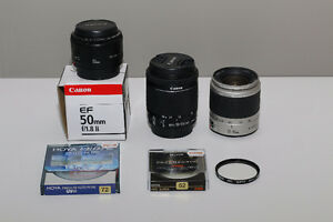 CANON LENSES AND HOYA FILTERS