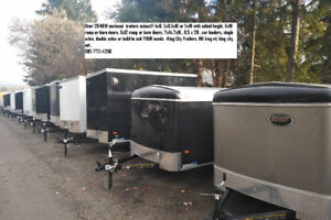 KING CITY TRAILERS-  ENCLOSED TRAILERS/OPEN TRAILERS
