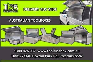 ALUMINIUM BLACK/WHITE TOOLBOX - 4WD UNDERBODYS St Leonards Willoughby Area Preview