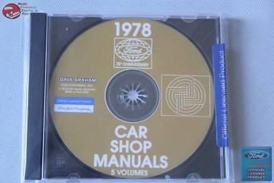 1978 Ford Car Shop Repair Manuals 5 Volumes All Models CD Rom Disc PDF New