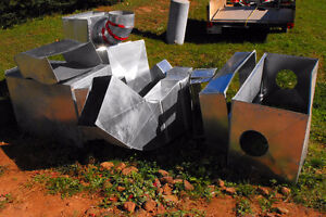 Salvaged HVAC Ductwork and plenums