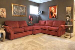 Burgundy/Red Sectional