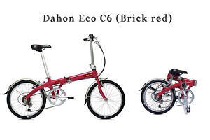 Dahon Eco C6 Folding Bike (brick red) in excellent new condition