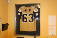 CFL Hall of Fame Waltby Autographed and framed jersey