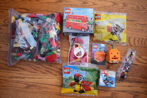 LEGO Lot - 200+ Pieces, 6 sealed sets - pumpkin, train, turkey