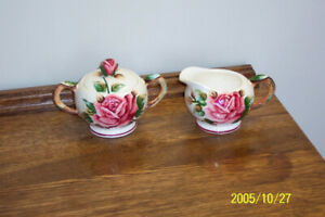Regal Rose Sugar Bowl and Creamer Set
