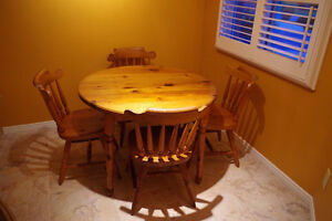Table & Chairs - solid pine