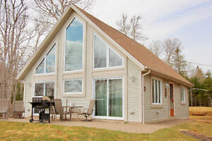 fully furnished waterfront chalet rented weekly