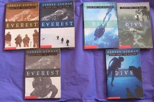 Everest Book trilogy & Dive Book Trilogy by Gordon Korman