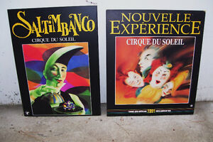2 Cirque du Soliel Hardboard Posters 1991 26x30 and 23x31 Inches