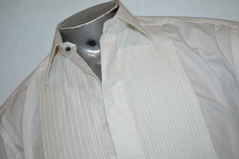 4742-a Mens ETON Tuxedo Dress Shirt Size Large 16.5 White