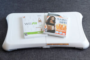 Wii fit board + Games