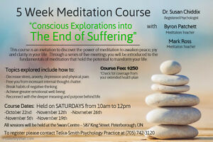 5 Week Meditation Course - with Dr. Susan Chiddix Peterborough Peterborough Area image 2