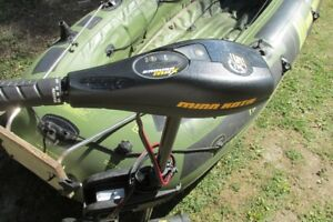 Minn Kota electric trolling motor and Sevylor inflatable boat
