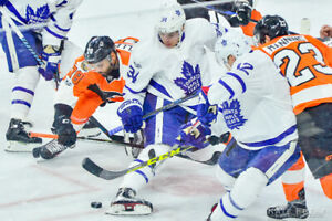 MAPLE LEAFS VS PHILIADELPHIA     FLYERS FRI MAR 15TH ROW 2!