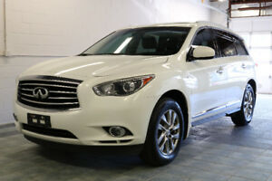 2014 INFINITI QX60 AWD SUNROOF LEATHER CAMERA 7-PASS PEARL WHITE