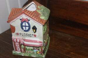 Ceramic House Tissue Box Cover ( Kleenex )