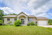 Gorgeous Country Raised Bungalow with 24 X 40 Shop!