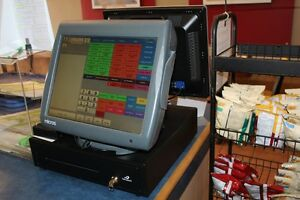 Cash Register with Front LCD Monitor