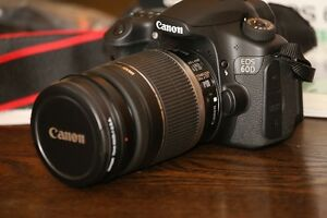 Canon EOS 60D with EF-S 18-200mm IS lens & Canon Power Grip BG-E