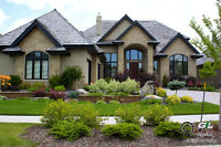 Custom Landscaping with Natural Stone