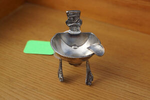 VINTAGE STERLING SILVER SOUTH AMERICAN MINI ASHTRAY