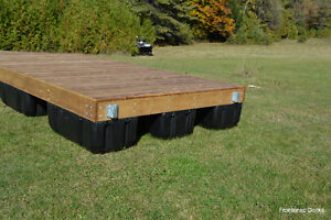 8 x 16 pressure treated floating dock with 4 x 16 ramp Kingston Kingston Area image 3