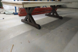 New 4'x9' Solid Wood dining table