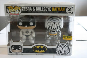 Pop Heroes Zebra and Bullseye Batman 2-Pack Vinyl Figure Funko