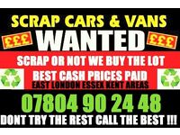 Ò78Ò4 9Ò2448 WANTED CARS VANS FOR CASH SCRAP BUY YOUR SELL MY SCRAPPING Bdh