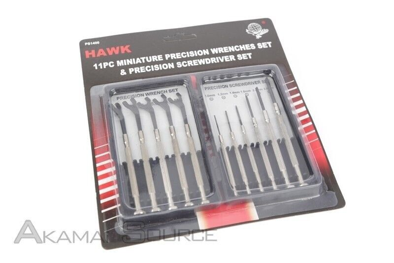 11pc Miniature Precision Wrench Screwdriver Set Hobby RARE Tool