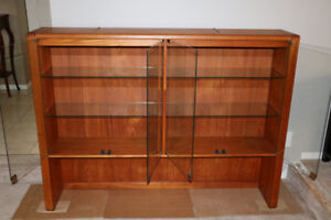 TEAK CHINA / DISPLAY CABINET $200.00 IN CLOVERDALE