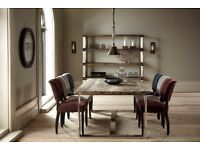 HALO. Rustic style Wooden/ Chrome Dining Table