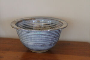 artisinal pottery serving bowl