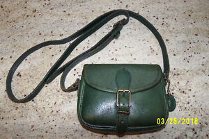 Roots Small Green Leather Purse