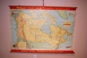 Vintage Neilson's Jersey Milk School Map of Canada (in French)