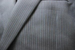 Mens Grey Pin Stripe Suit Kitchener / Waterloo Kitchener Area image 3