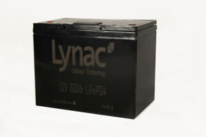 12V 60Ah LiFePO4 Smart Lithium Battery with M8 Post