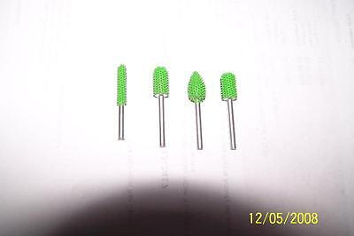 Carving Sculpture Tool Set Of 4 10 Discount Green Carbide Burrs 18 Inch Shaft