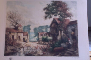2 Old Art Pieces From Renown French Artists