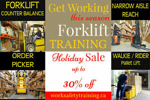 Forklift Training + Certification (Licence) + Jobs from only $75 Peterborough Peterborough Area image 2